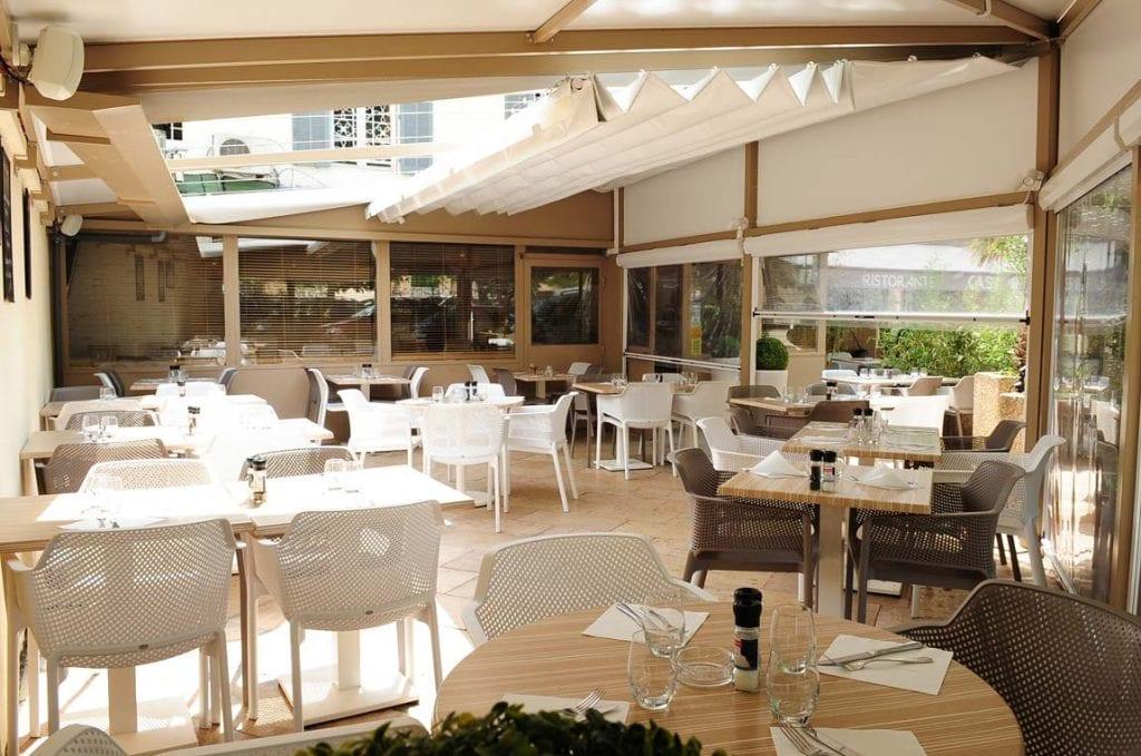 Fermeture de pergola du restaurant La Casa Mila