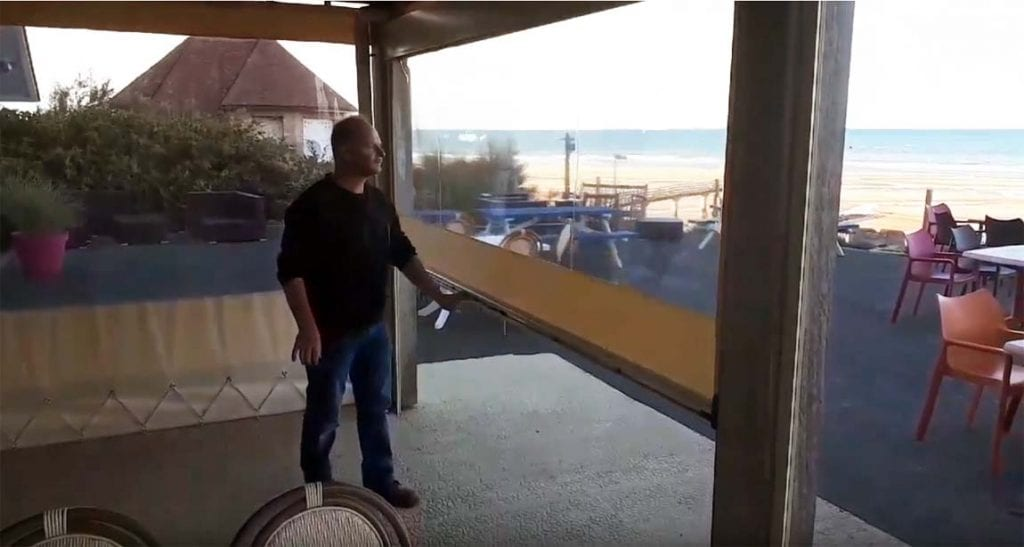Fermeture de terrasse de l'hôtel du Casino