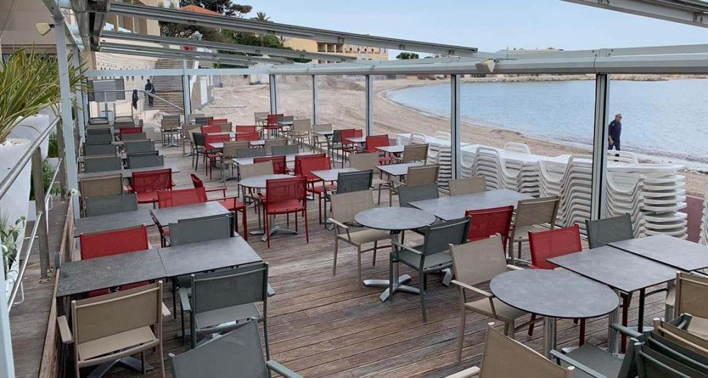 Fermeture de terrasse du restaurant à Bandol (83 - Var)