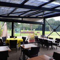 Fermeture de pergola du restaurant golf tumulus