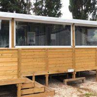 Fermeture de terrasse mobil home en camping