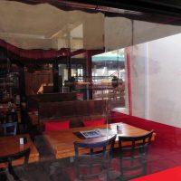 Fermeture de terrasse du restaurant the red barn