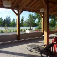 Fermeture de pergola du camping Lac de Thoux Saint-Cricq